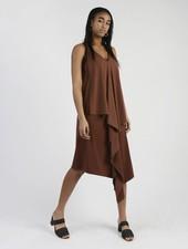 Long Drape Back Dress