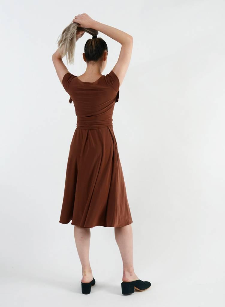 Wrap Dress - Cognac