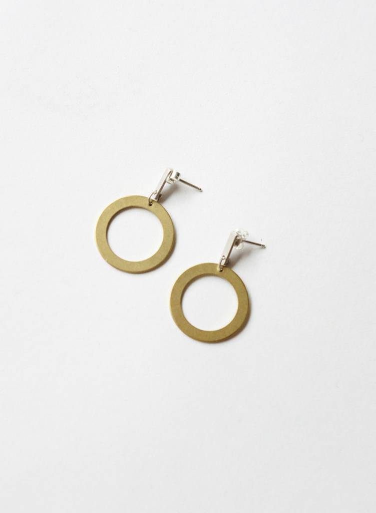 Natalie Joy Circle Line Earrings