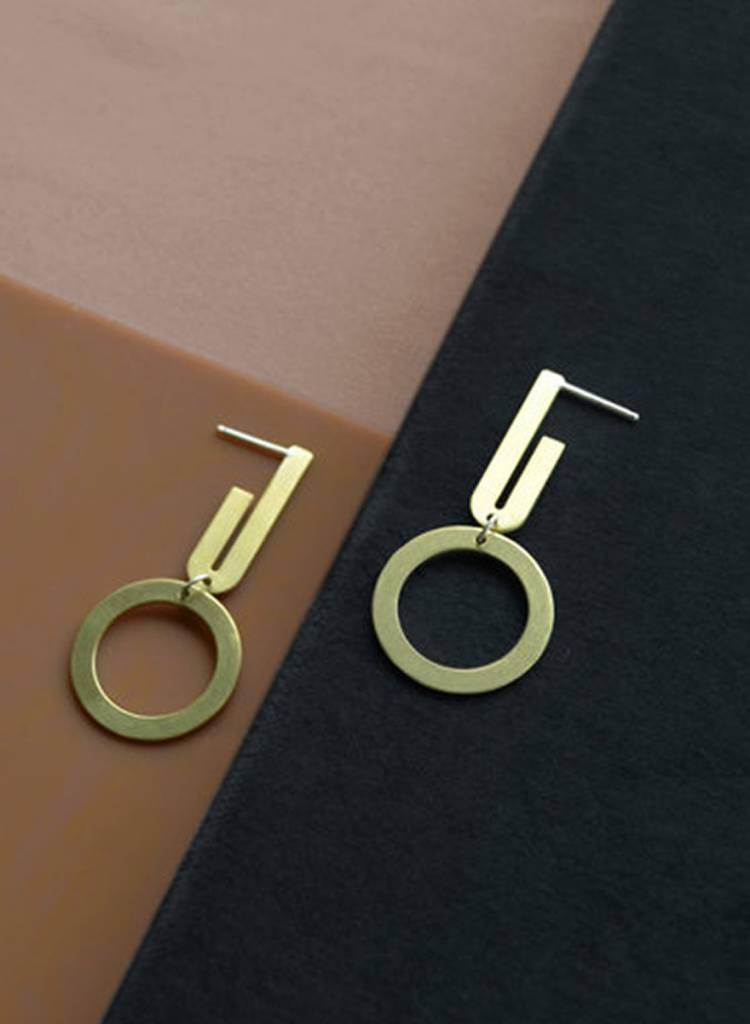 Natalie Joy Uneven Arc Earrings
