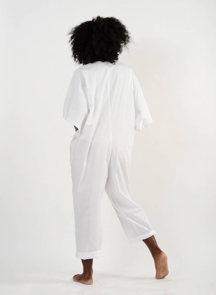 Overthrow Jumpsuit - White