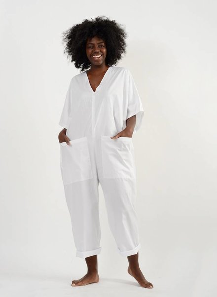 Overthrow Jumpsuit - White