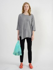 Long Side Slit Sweater - Limestone