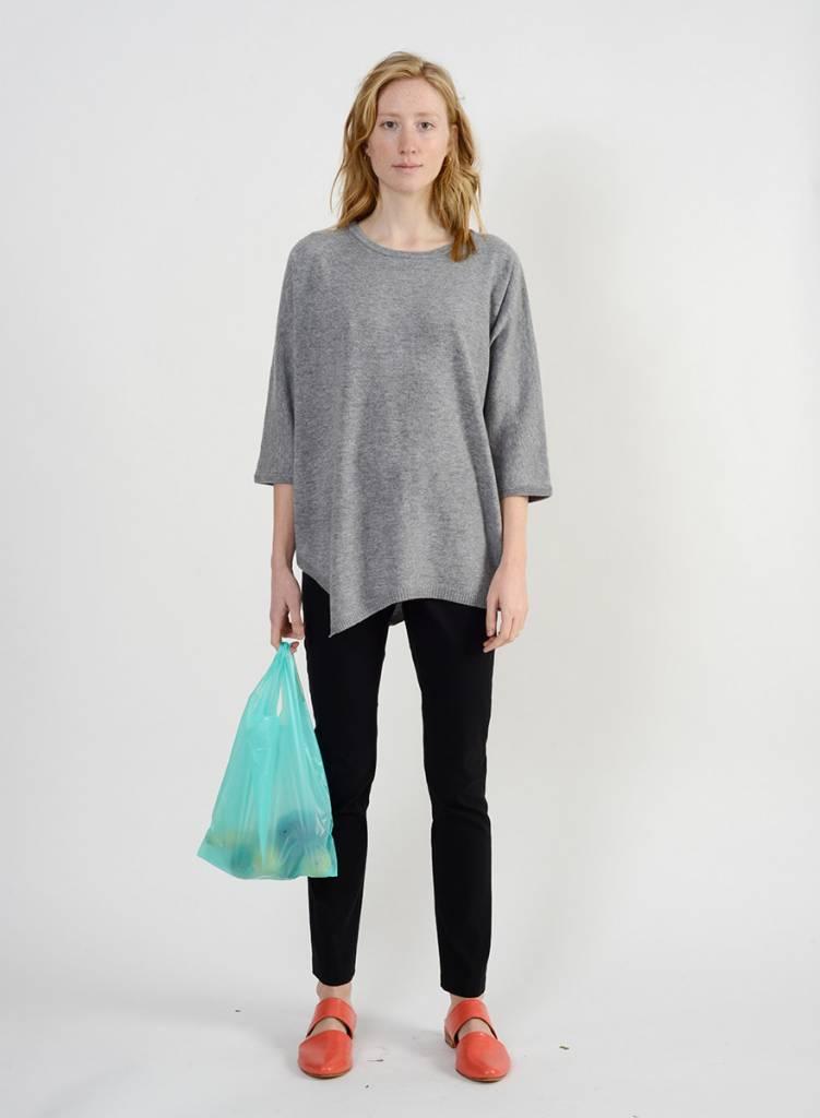 Long Side Slit Sweater - Limestone
