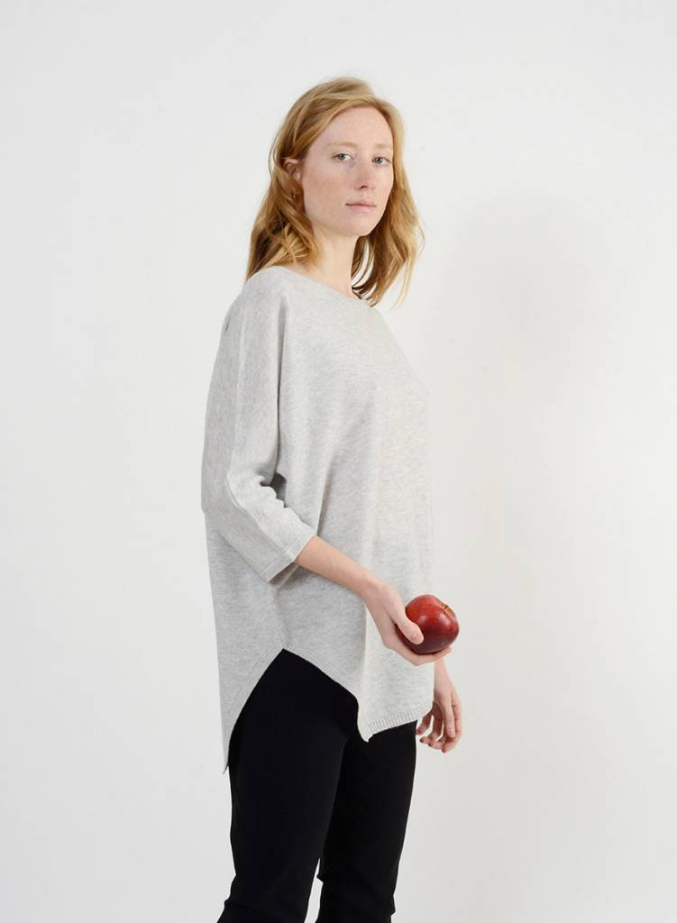 Long Side Slit Sweater - Marble