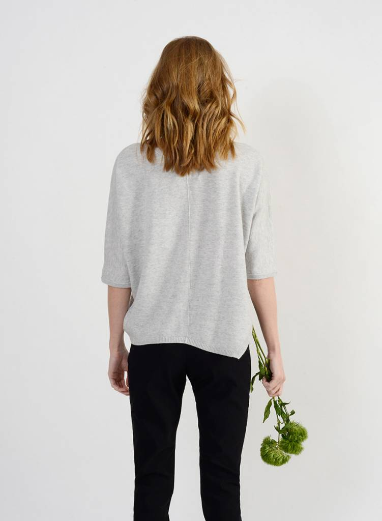 Short Side Slit Sweater - Marble