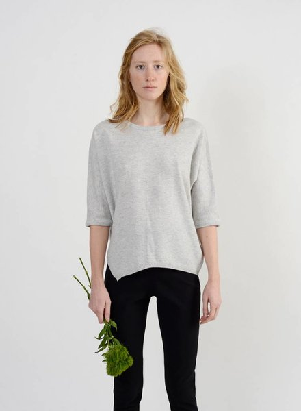 Short Side Slit Sweater - Marble