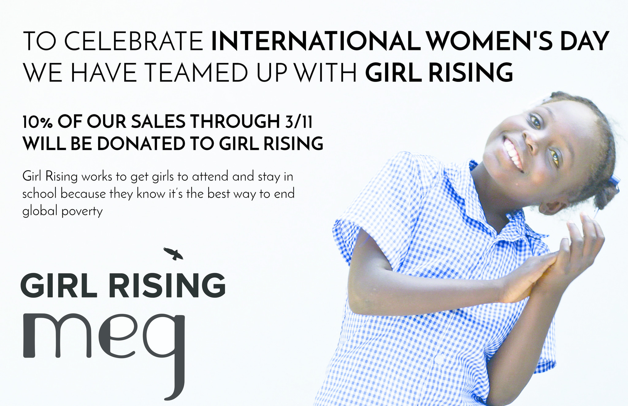 Girl Rising and Meg Partnership for International Women's Day