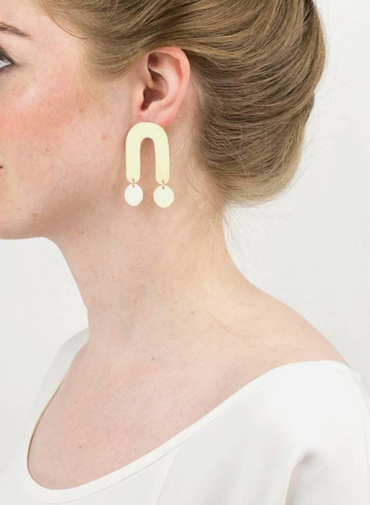 Baleen Atrium Earrings - Gold