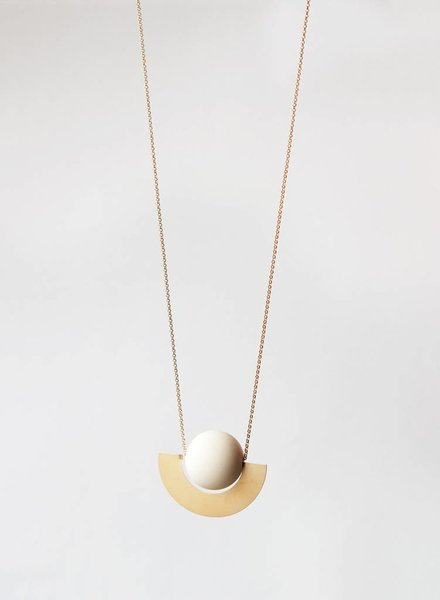 Baleen Beam Necklace - White