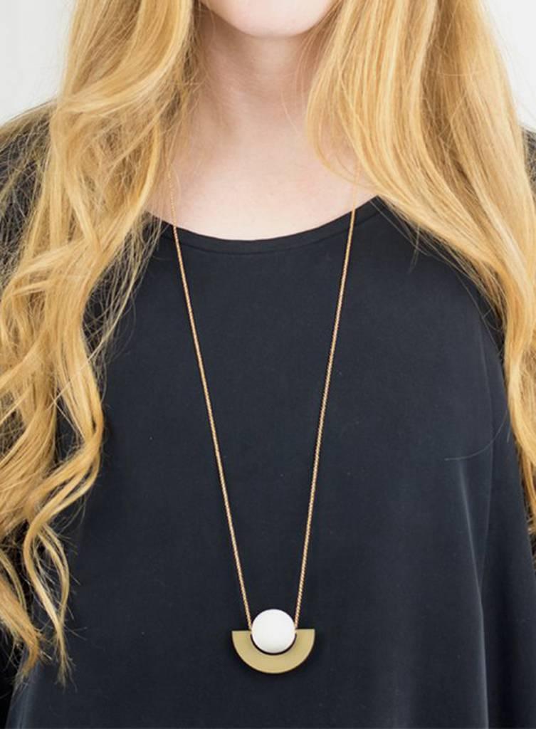 Baleen Beam Necklace - White