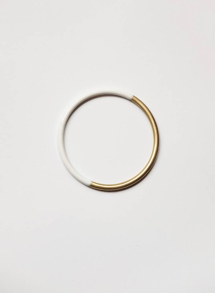 Baleen Dipped Bangle - White