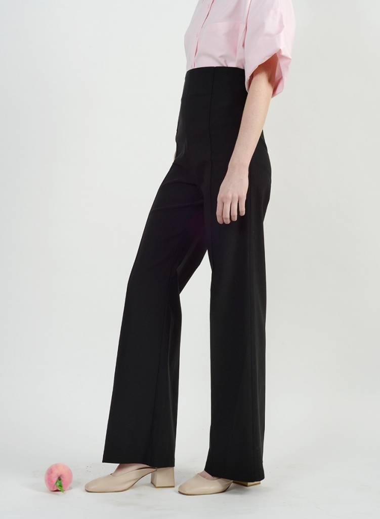 Pin Tuck Pant - Black