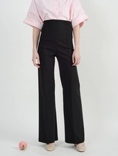 Pin Tuck Pant - Black