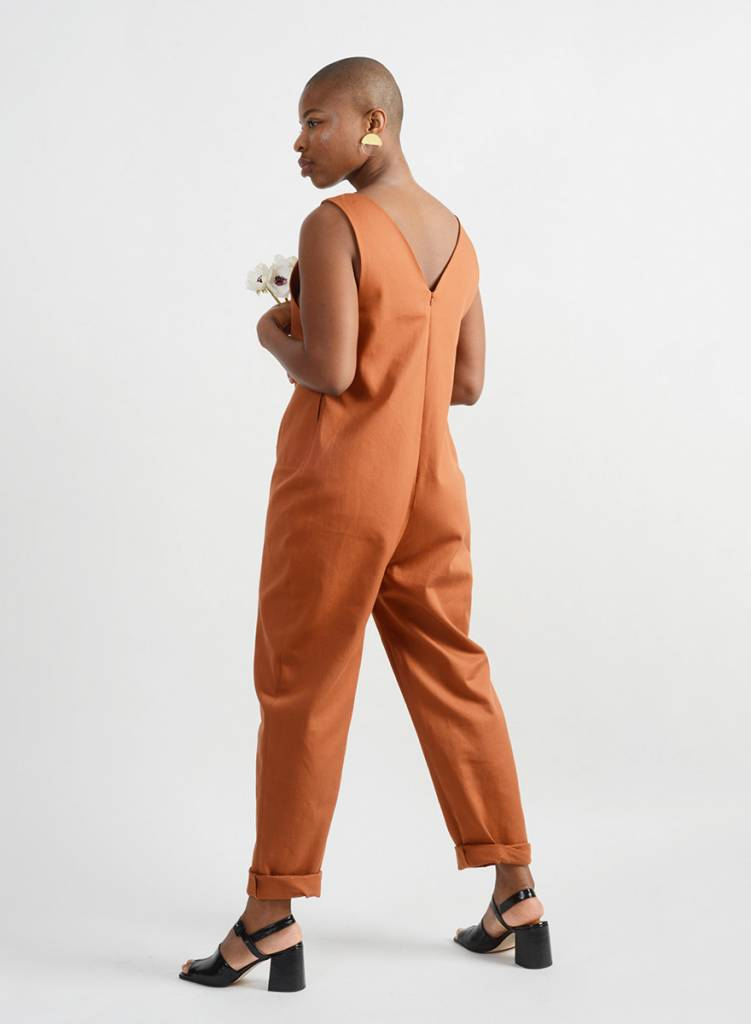 Emilie Jumpsuit - Brick Brown