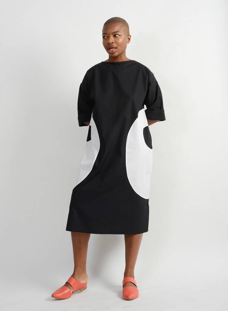Heidi Dress - Black/White