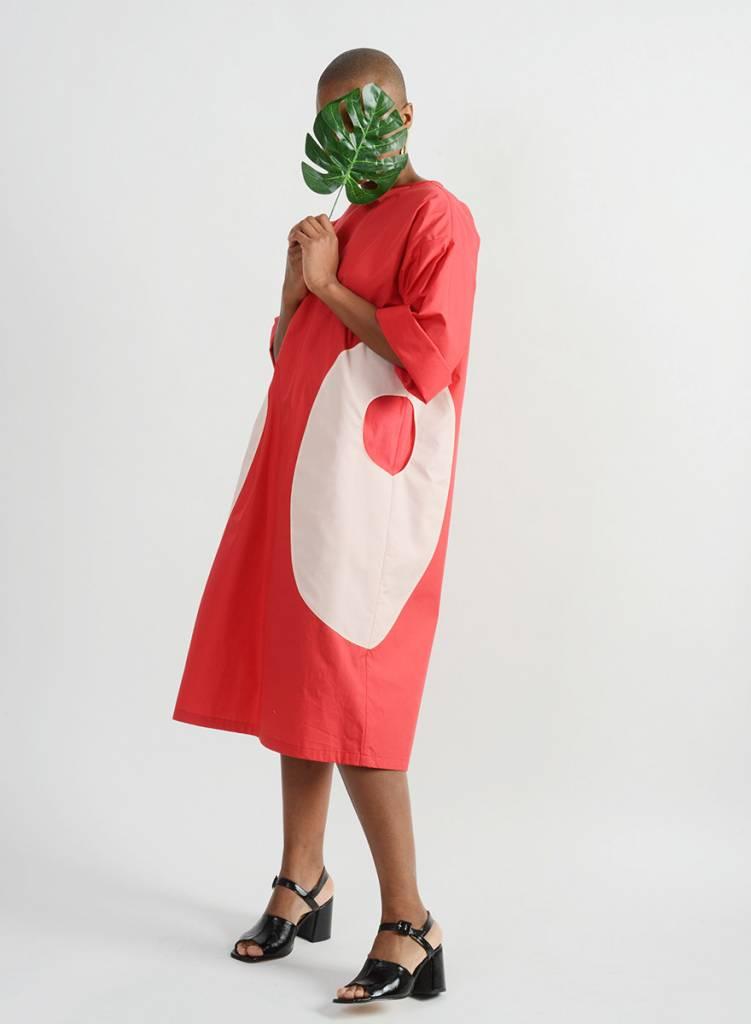 Heidi Dress - Red/Coral