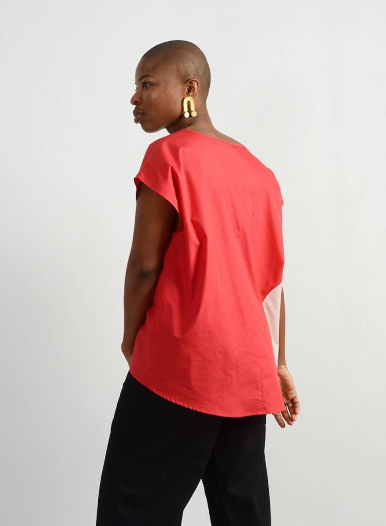 Hettie Top - Red/Coral