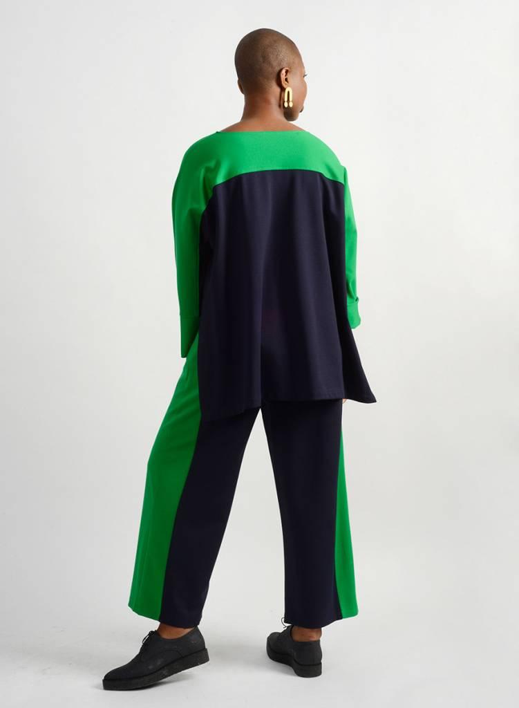Course Top - Emerald/Navy