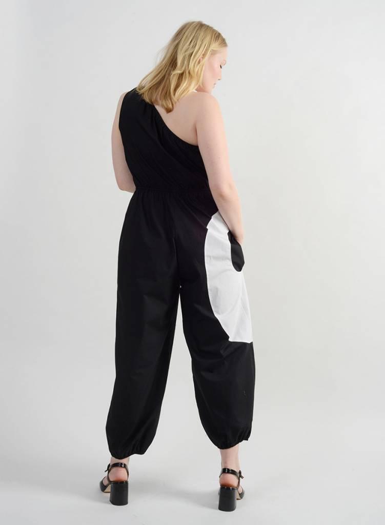 Hennie Jumpsuit - Black/White
