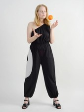Hennie Jumpsuit - Black/White