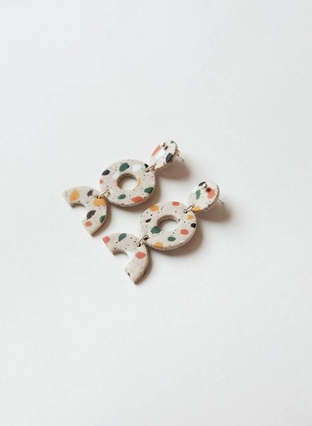 Surface Handmade Surface Handmade Shape Earring - Terrazzo
