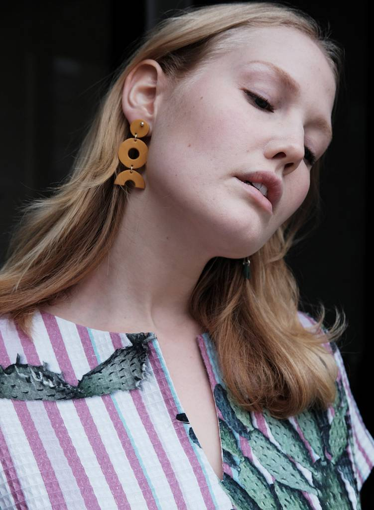 Surface Handmade Surface Handmade Shape Earring - Yellow