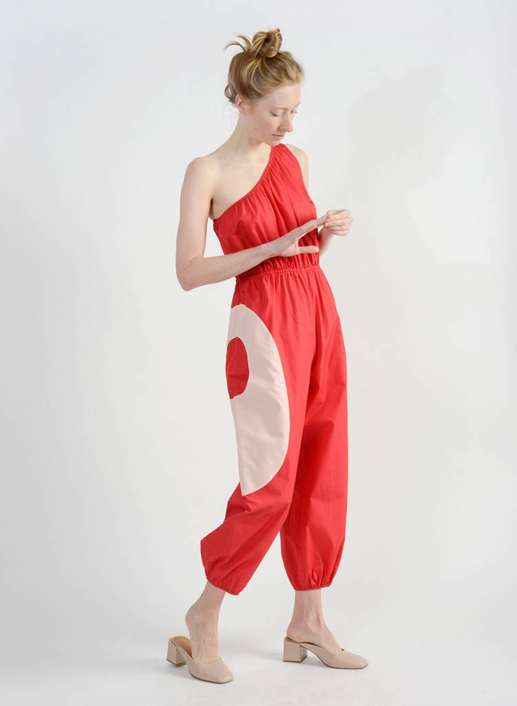 Hennie Jumpsuit - Red/Coral