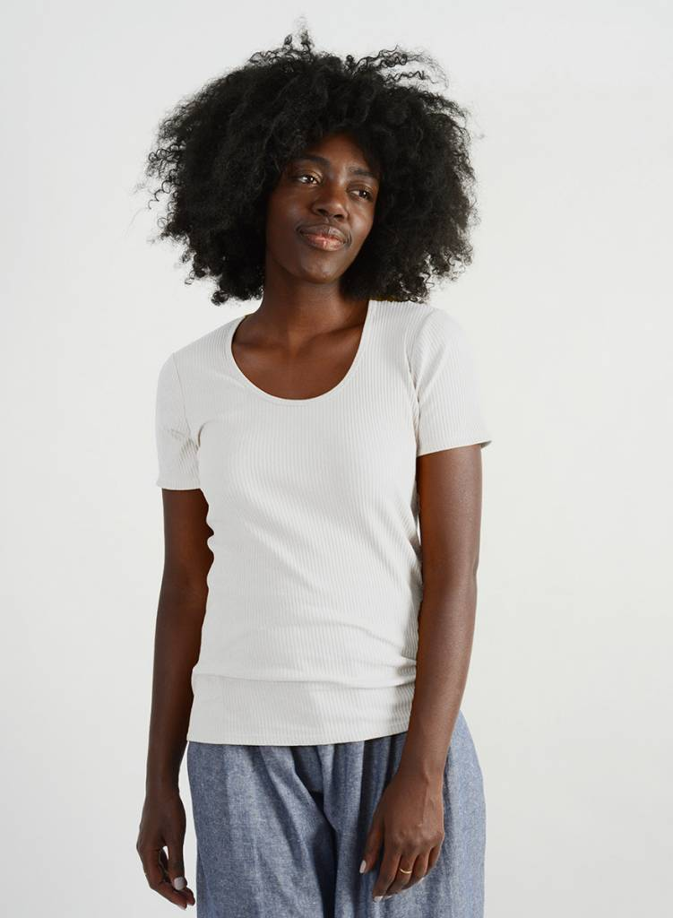 Scoopy Tee - White