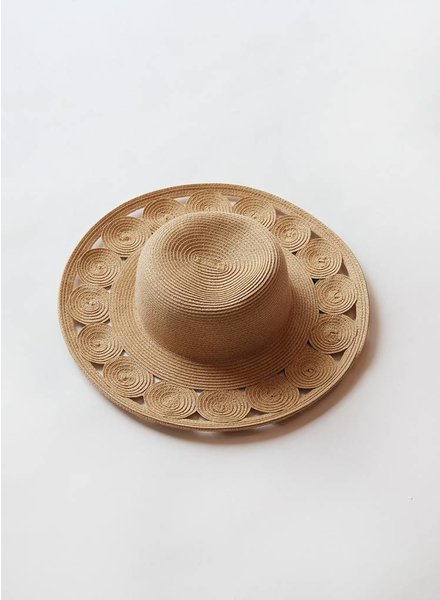 Woven Circles Floppy Hat