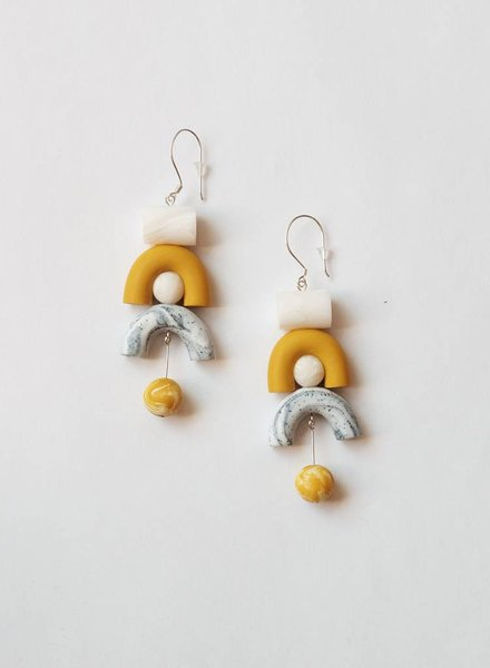 Tsunja  Yellow Earrings