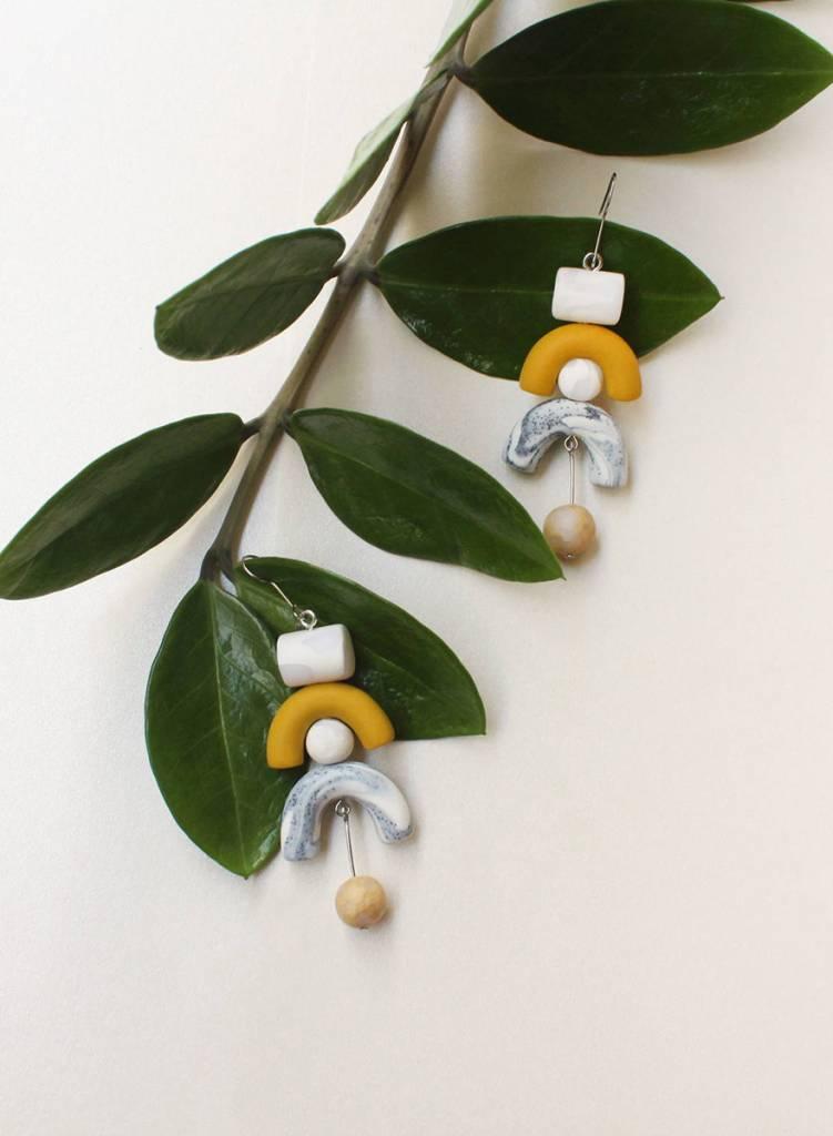 Tsunja  Yellow Earrings