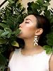 Tsunja White Asymmetrical Earrings