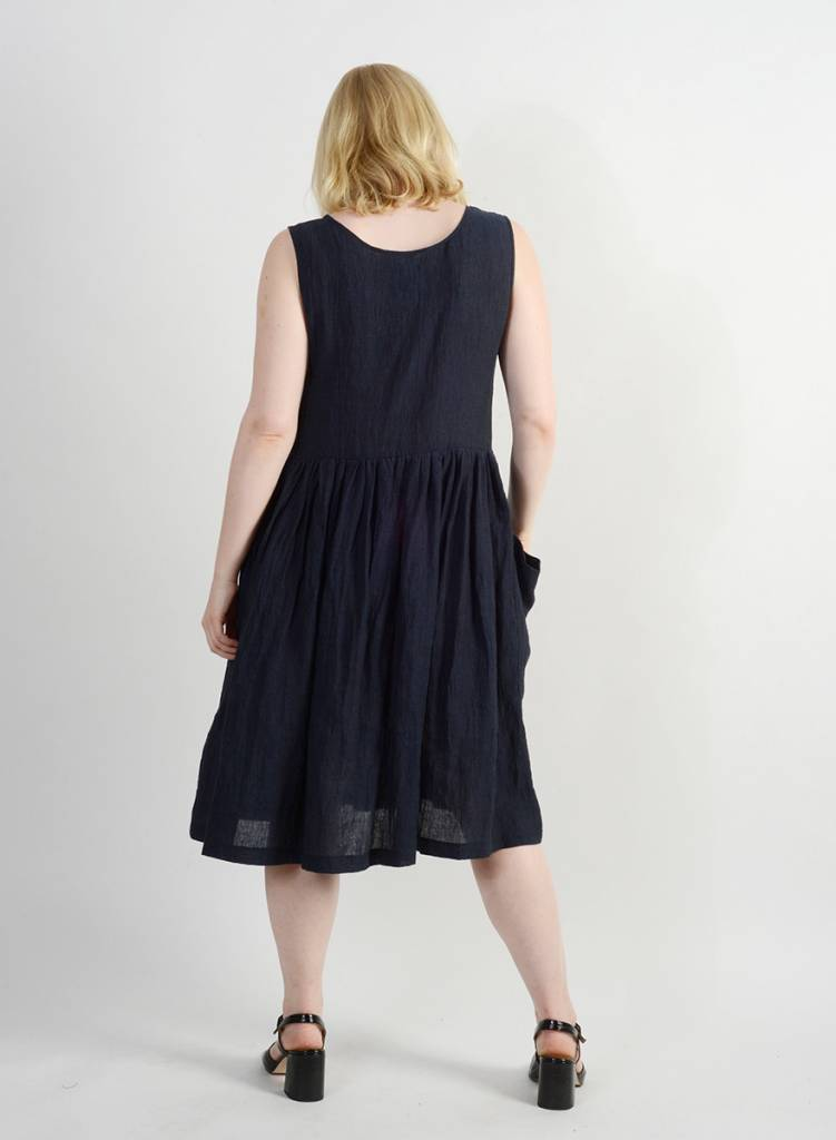 Madeline Dress - Indigo