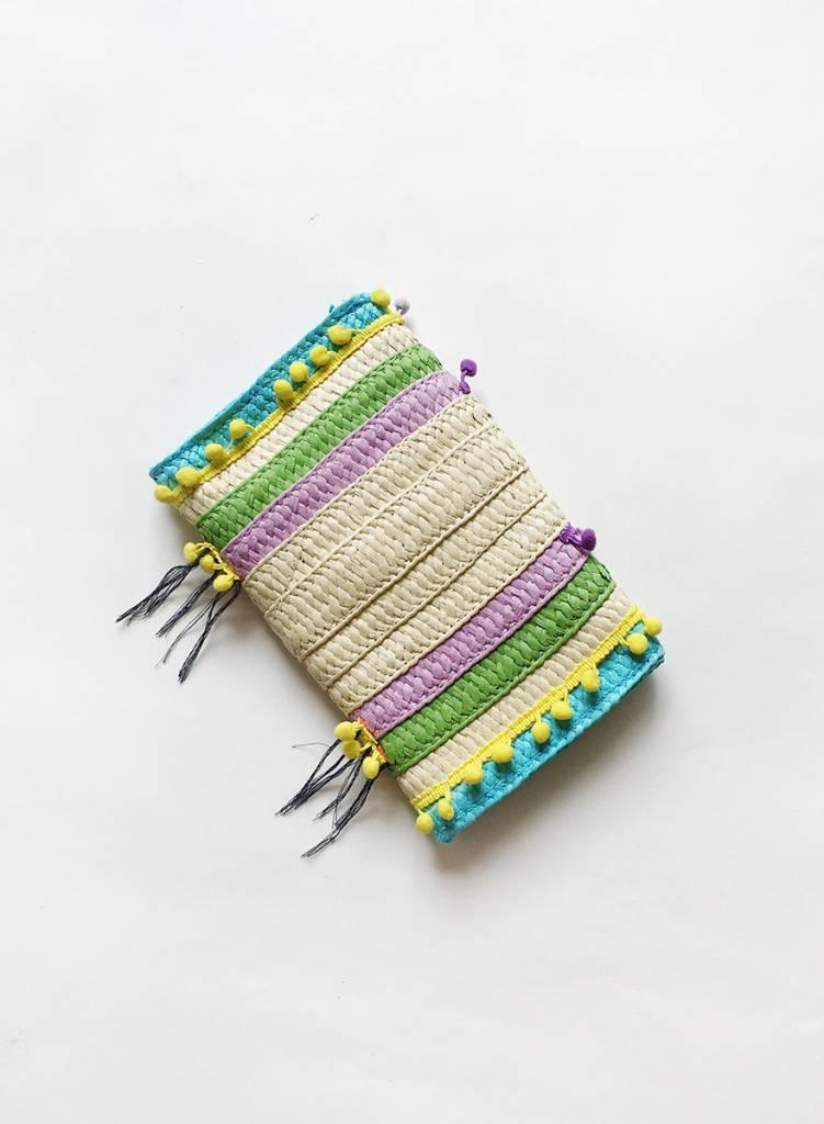 Colorful Pom Clutch