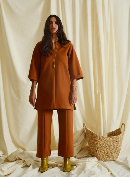 Topher Seamed Pant - Rust