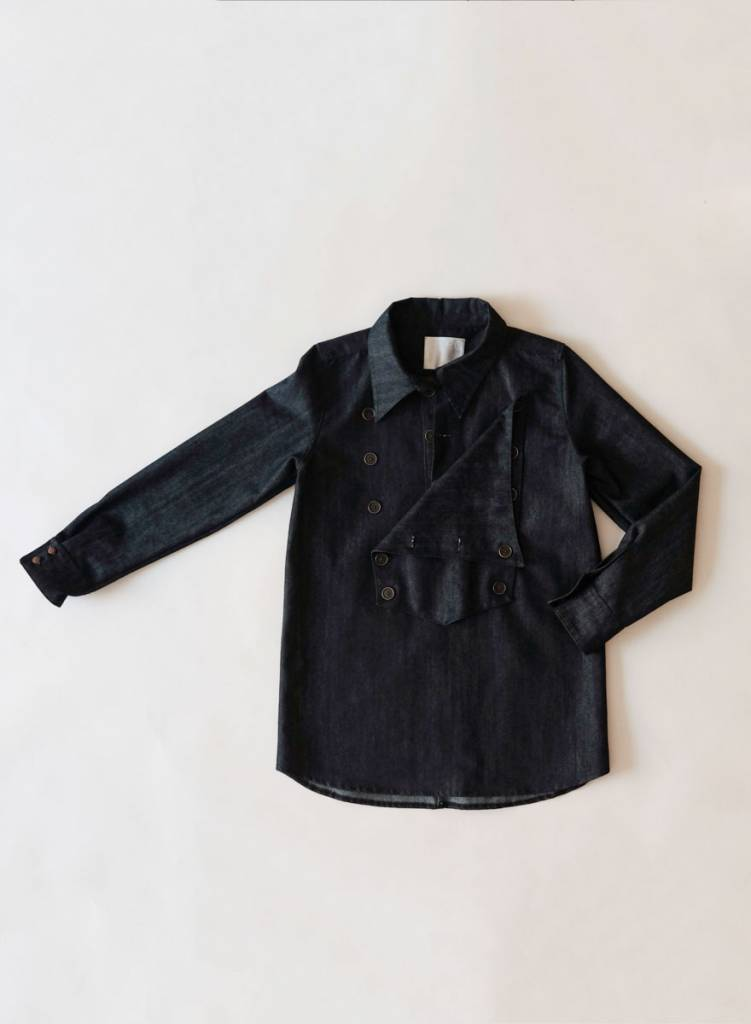 Denim Bib Shirt