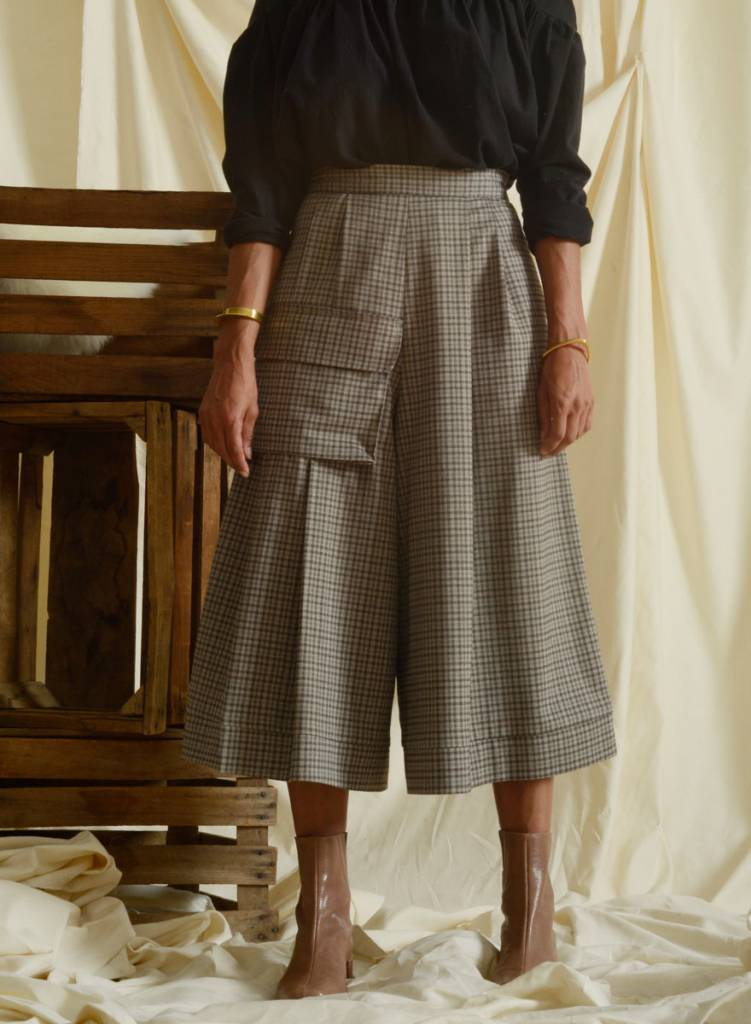 Derby Culotte - Sand Plaid