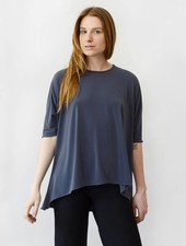 Concave Hem Tee - Charcoal
