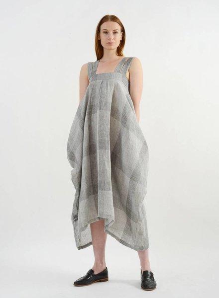 Amelia Four Strap Dress - Sand Plaid