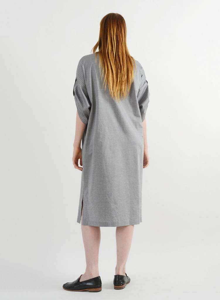 Herringbone Shirt Dress - Black
