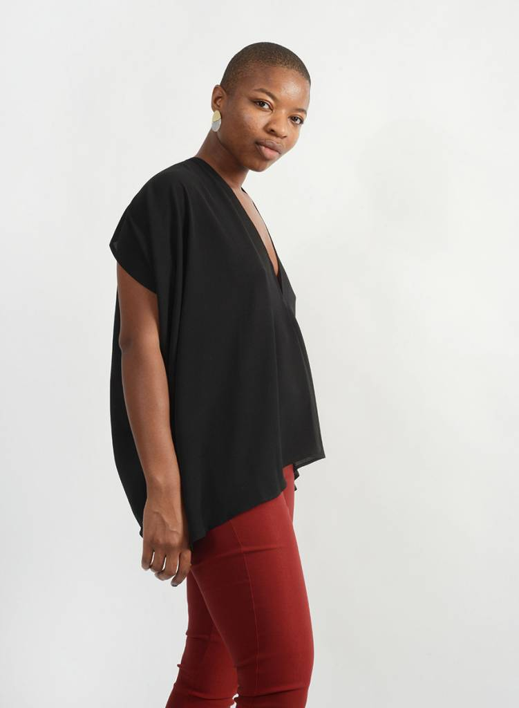 Abstraction Top - Black