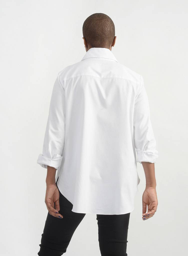Oxford Big Collar Shirt - White