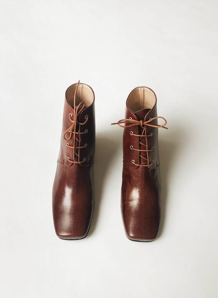 Gabriel Lace Up Boot - Brandy