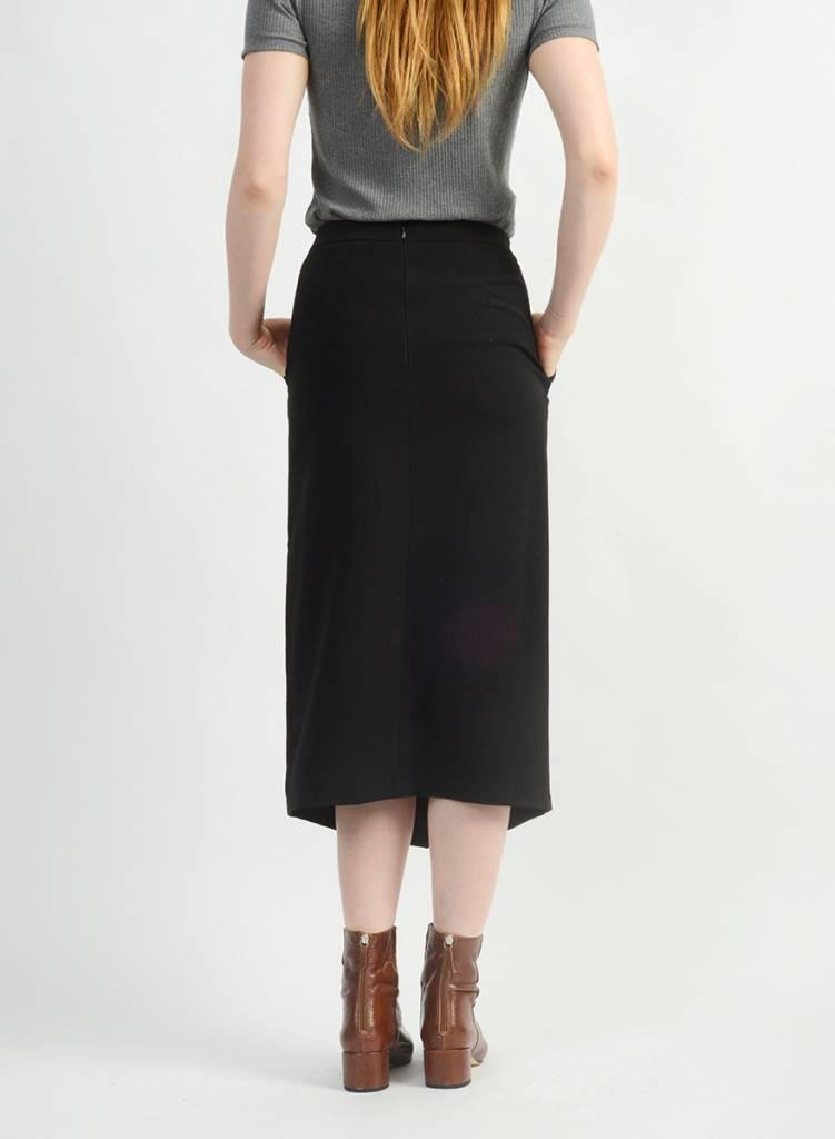 Long Relaxed Skirt - Black