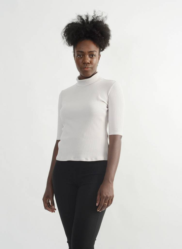 Easy Turtleneck Tee - Dove