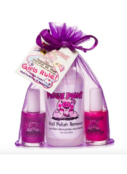 Piggy Paint Piggy Paint Girls Rule - 2 polishes and 1 remover