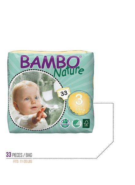 Bambo Bambo Diapers Size 3