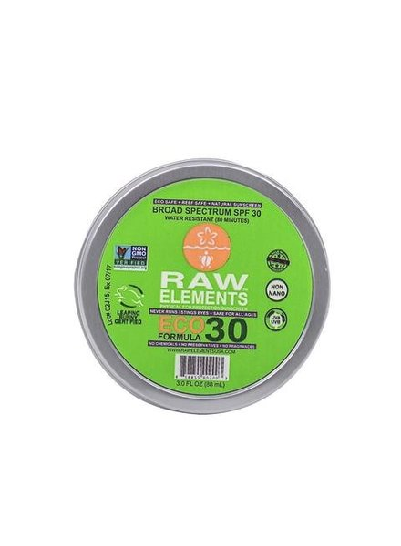 Raw Elements Sunscreen Moisturizer Eco Formula SPF 30 Tin