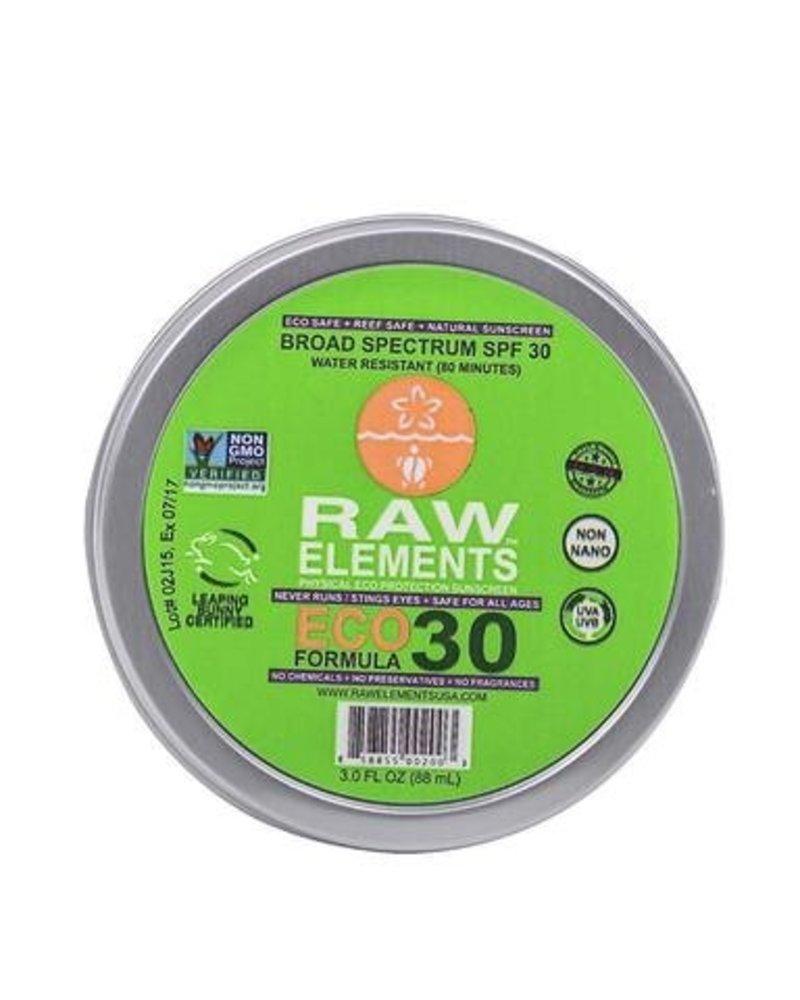Raw Elements Sunscreen Moisturizer Eco Formula SPF 30 Tin